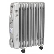 Sealey Oil Filled Radiator 2500W/230V 11 Element with Timer Model No-RD2500T
