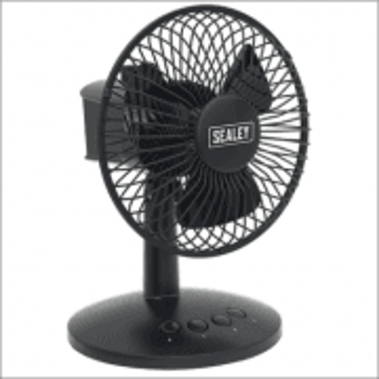 "Sealey Oscillating USB Desk Fan 3-Speed 6"" Model No-SFF6USB"
