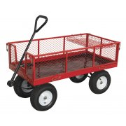 Sealey Platform Truck with Sides Pneumatic Tyres 450kg Capacity Model No-CST806