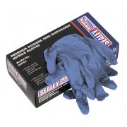 Sealey Premium Powder Free Disposable Nitrile Gloves Large Pack of 100 Model No-SSP55L