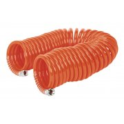 "Sealey PU Coiled Air Hose 10mtr x 6mm with 1/4""BSP Unions Model No-AH10C/6"