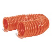 "Sealey PU Coiled Air Hose 10mtr x 8mm with 1/4""BSP Unions Model No-AH10C/8"