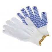 Sealey PVC Anti-Slip Nylon Knitted Gloves - Pair Model No-SSP51