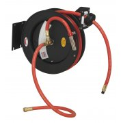 Sealey Retractable Air Hose Steel Reel 8mtr 10mm ID Rubber Hose Model No-SA84