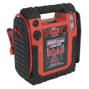Sealey RoadStart Emergency Power Pack with Air Compressor 12V 900 Peak Amps Model No-RS132