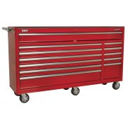 Sealey Rollcab 12 Drawer with Ball Bearing Runners Heavy-Duty - Red Model No-AP6612