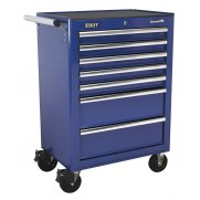 Sealey Rollcab 7 Drawer with Ball Bearing Runners - Blue Model No-AP26479TC
