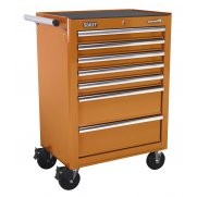 Sealey Rollcab 7 Drawer with Ball Bearing Runners - Orange Model No-AP26479TO