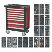 Sealey Rollcab 8 Drawer with Ball Bearing Runners & 707pc Tool Kit Model No-AP2408TTC08