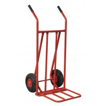 Sealey Sack Truck with Pneumatic Tyres 150kg Foldable Toe Model No-CST800