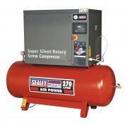 Sealey Screw Compressor 270ltr 10hp 3ph Low Noise Model No-SSC12710