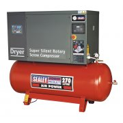 Sealey Screw Compressor 270ltr 10hp 3ph Low Noise with Dryer Model No-SSC12710D