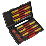 Sealey Screwdriver Set 13pc Interchangeable - VDE Approved Model No-AK6128