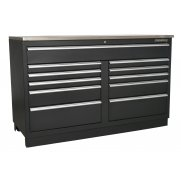 Sealey Modular Floor Cabinet 11 Drawer 1550mm Heavy-Duty Model No-. APMS04