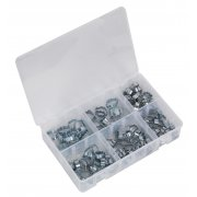 Sealey O-Clip Double Ear Assortment 140pc Model No-. AB044DE