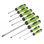 Sealey Screwdriver Set 8pc Hammer-Thru Hi-Vis Model No-. HV002