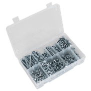Self Drilling Screw Assortment 410pc Hex Head Zinc DIN 7504K : Model No.AB061SDH