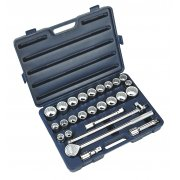 "Sealey Socket Set 26pc 3/4""Sq Drive 12pt WallDrive - DuoMetric Model No-AK2582"