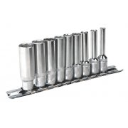 "Sealey Socket Set 9pc 1/4""Sq Drive 6pt Deep WallDrive Imperial Model No-AK2718"
