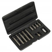 Sealey Spline Bit & Holder Set 11pc Model No-S0534