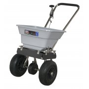 Sealey Stainless Steel Broadcast Salt Spreader 37kg Walk Behind Model No-SSB37W