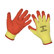 Super Grip Knitted Gloves Latex Palm (X-Large) - Pack of 12 Pairs Model No-9121XL/12