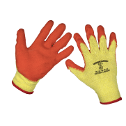 Super Grip Knitted Gloves Latex Palm (X-Large) - Pack of 120 Pairs Model No-9121XL/B120