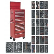 Sealey Tool Chest Combination 14 Drawer with Ball Bearing Runners - Red & 1179pc Tool Kit Model No-SPTCOMBO1