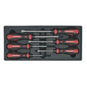 Sealey Tool Tray with Hammer-Thru Screwdriver Set 6pc Model No-TBT29