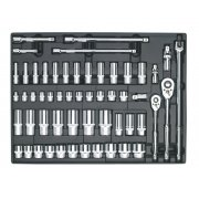 "Sealey Tool Tray with Socket Set 55pc 3/8"" & 1/2""Sq Drive Model No-TBT31"