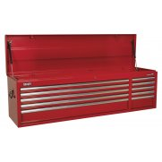 Sealey Topchest 10 Drawer with Ball Bearing Runners Heavy-Duty - Red Model No-AP6610