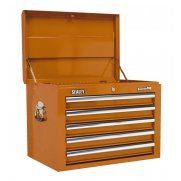 Sealey Topchest 5 Drawer with Ball Bearing Runners - Orange Model No-AP26059TO