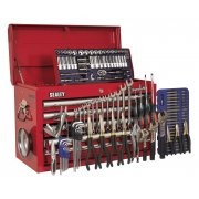 Sealey Topchest 5 Drawer with Ball Bearing Runners - Red & 138pc Tool Kit Model No-AP33059COMBO