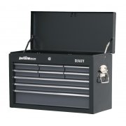 Sealey Topchest 9 Drawer with Ball Bearing Runners - Black/Grey Model No-AP2509B