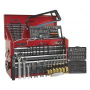 Sealey Topchest 9 Drawer with Ball Bearing Runners - Red/Grey & 204pc Tool Kit Model No-AP22509BBCOMB