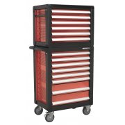 Sealey Topchest & Rollcab Combination 14 Drawer with Ball Bearing Runners & 1233pc Tool Kit Model No-APTTC02
