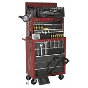 Sealey Topchest & Rollcab Combination 14 Drawer with Ball Bearing Runners - Red/Grey & 239pc Tool Kit Model No-AP2250BBCOMBO