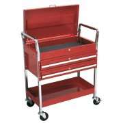 Sealey Trolley 2-Level Heavy-Duty with Lockable Top & 2 Drawers Model No-CX1042D