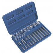 Sealey TRX-Star Socket & Bit Set 30pc Model No-AK619