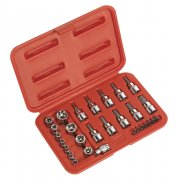 "Sealey TRX-Star Socket & Security Bit Set 29pc 1/4""Sq & 3/8""Sq Drive Model No-AK6193"