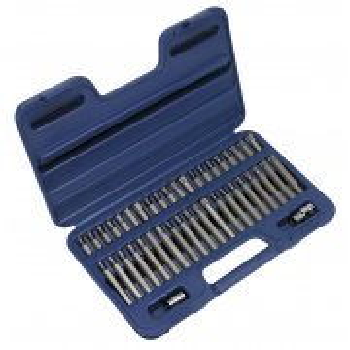 "Sealey TRX-Star/Spline/Hex Bit Set 42pc 3/8"" & 1/2""Sq Drive Model No-AK219"