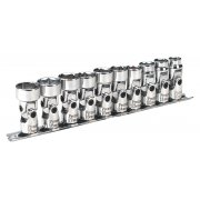 "Sealey Universal Joint Socket Set 3/8""Sq Drive 6pt WallDrive 10pc Metric Model No-AK2710"