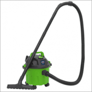 Sealey Vacuum Cleaner Wet & Dry 10ltr 1000W/230V - Hi-Vis Green Model No-PC102HV