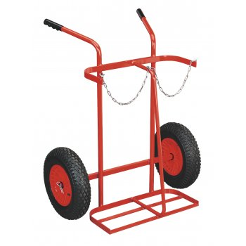 Sealey Welding Bottle Trolley with Pneumatic Tyres - 2 Bottle Model No-ST28P