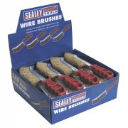 Sealey Wire Brush Brassed Steel Plastic Handle Display Box of 24 Model No-WB05DB24