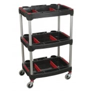 Sealey Workshop Trolley 3-Level Composite with Parts Storage Model No- CX313