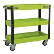 Sealey Workshop Trolley 3-Level Heavy-Duty - Hi-Vis Green Model No- CX110HV