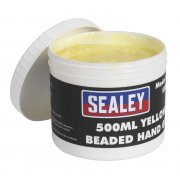 Sealey Yellow Beaded Hand Gel 500ml Model No-SSW05