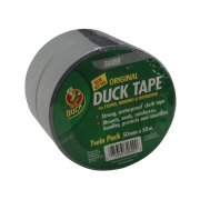 Shurtape Duck???? Tape Original 50mm x 50m Silver (Pack of 2)
