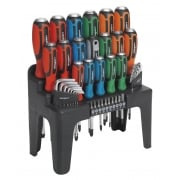 Hammer-Thru Screwdriver, Hex Key & Bit Set 44pc : Model No.S01106